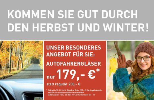AUTOFAHRERGLÄSER ZUM AKTIONSPREIS!